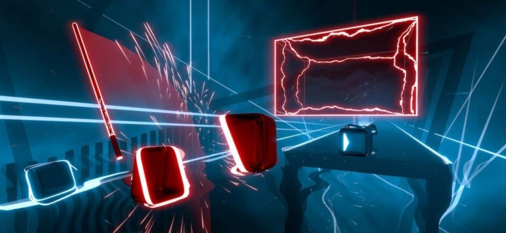 Beat Saber, with one free level of the game