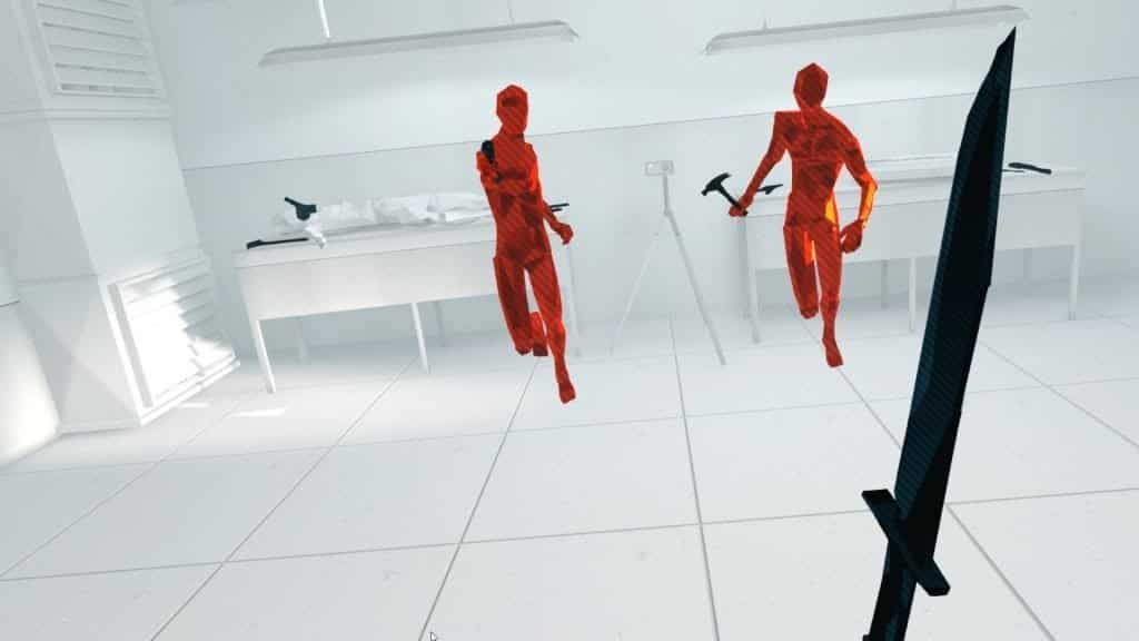 Superhot VR, a timelass classic in vr shooting games