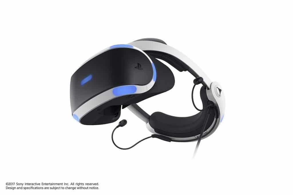 A PlayStation VR headset