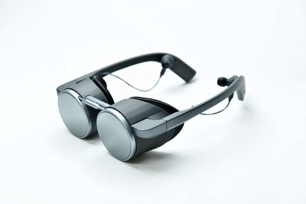 Panasonic VR glasses from the front.
